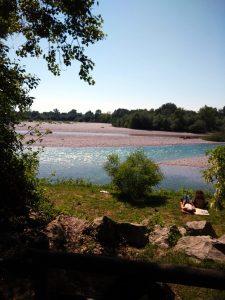 L'Isonzo e bagnanti