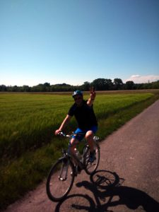 Il saluto del ciclista