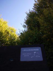 Targa a ricordo di William Klinger
