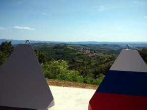 Panoramica da Vrholje del Brda-Collio