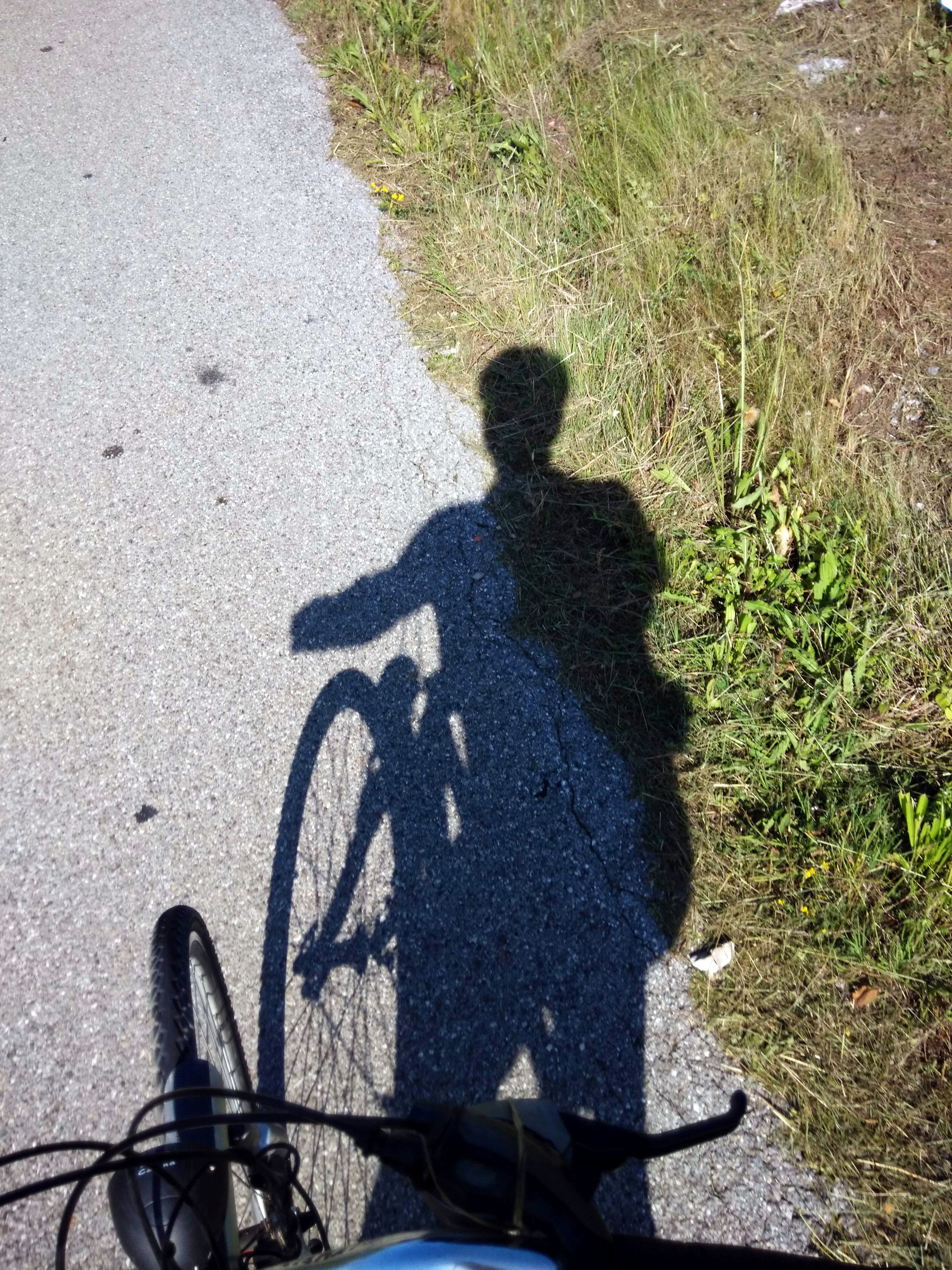 Salita di Brestovica Ombra ciclista