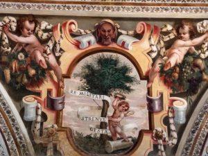 Palazzo ducale Mantova Corridoio dei Mori, con decorazioni a stucco degli inizi del Seicento