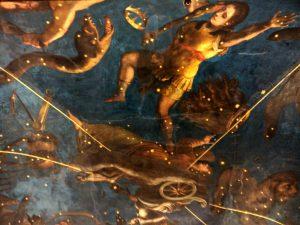 Palazzo Ducale a Mantova - Particolare del soffitto della sala dello zodiaco