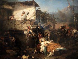Domenico Induno (1815- 1878) Incendio 1851