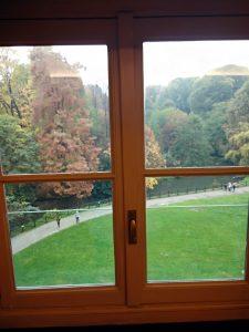 Vista dal GAM dei giardini pubblici Indro Montanelli