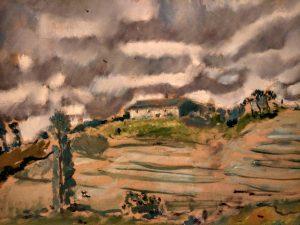 Filippo De Pisis (1896- 1956) Paesaggio di Lers 1936