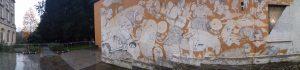 Facciata del PAC - Murales di Blu ed Ericailcane realizzato durante la mostra Street Art - weet art 2007