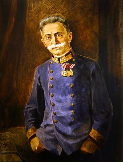 Generale Franz Graf Conrad von Hotzendorf, c.1916 (olio su tela) by Nedomansky Studio, Vienna (fl.1914-18); Museo della Guerra di Rovereto, Trento, Italy; (add. info.: (1852-1925)