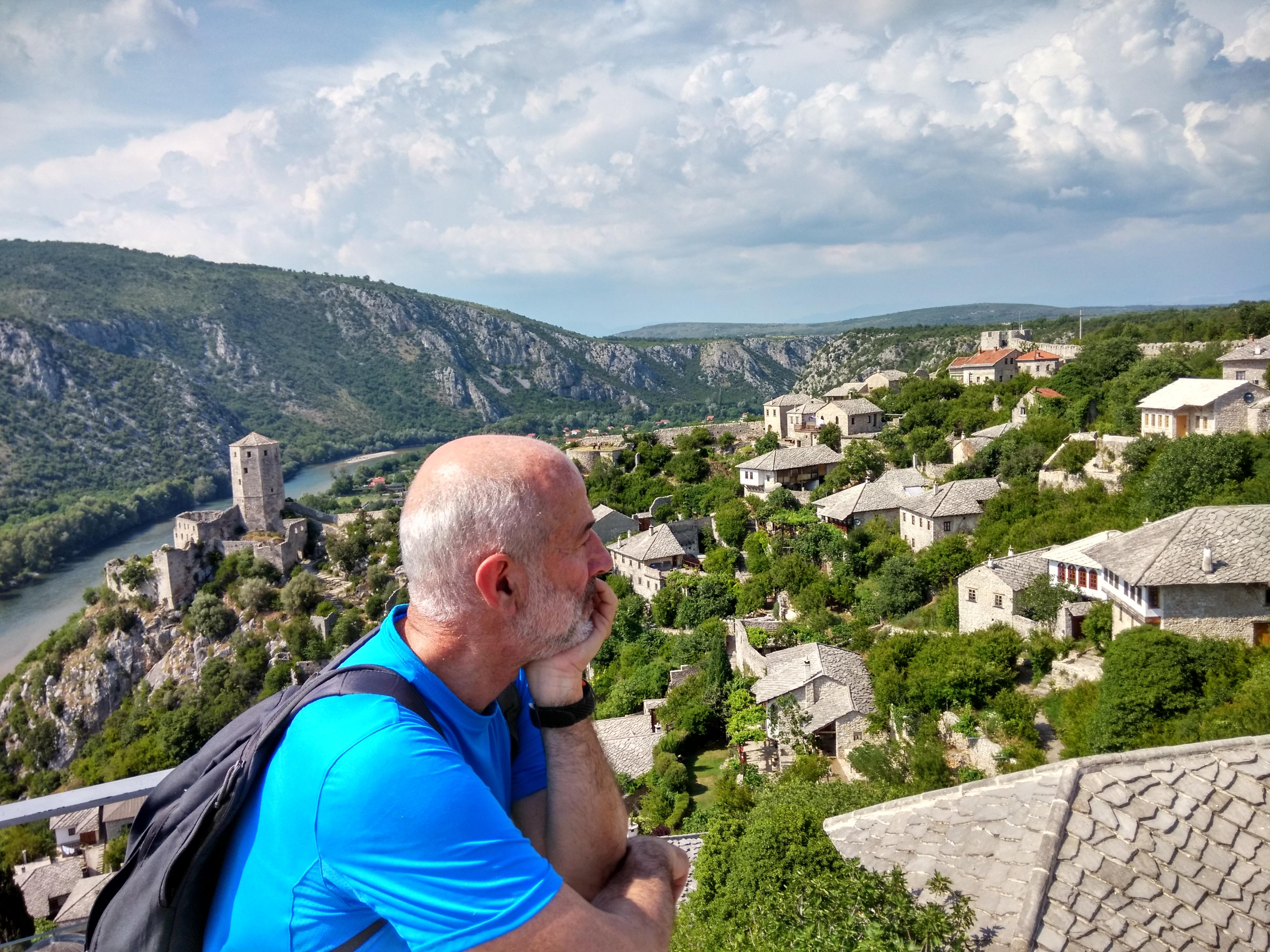 Pocitelj vista dalla rocca del castello
