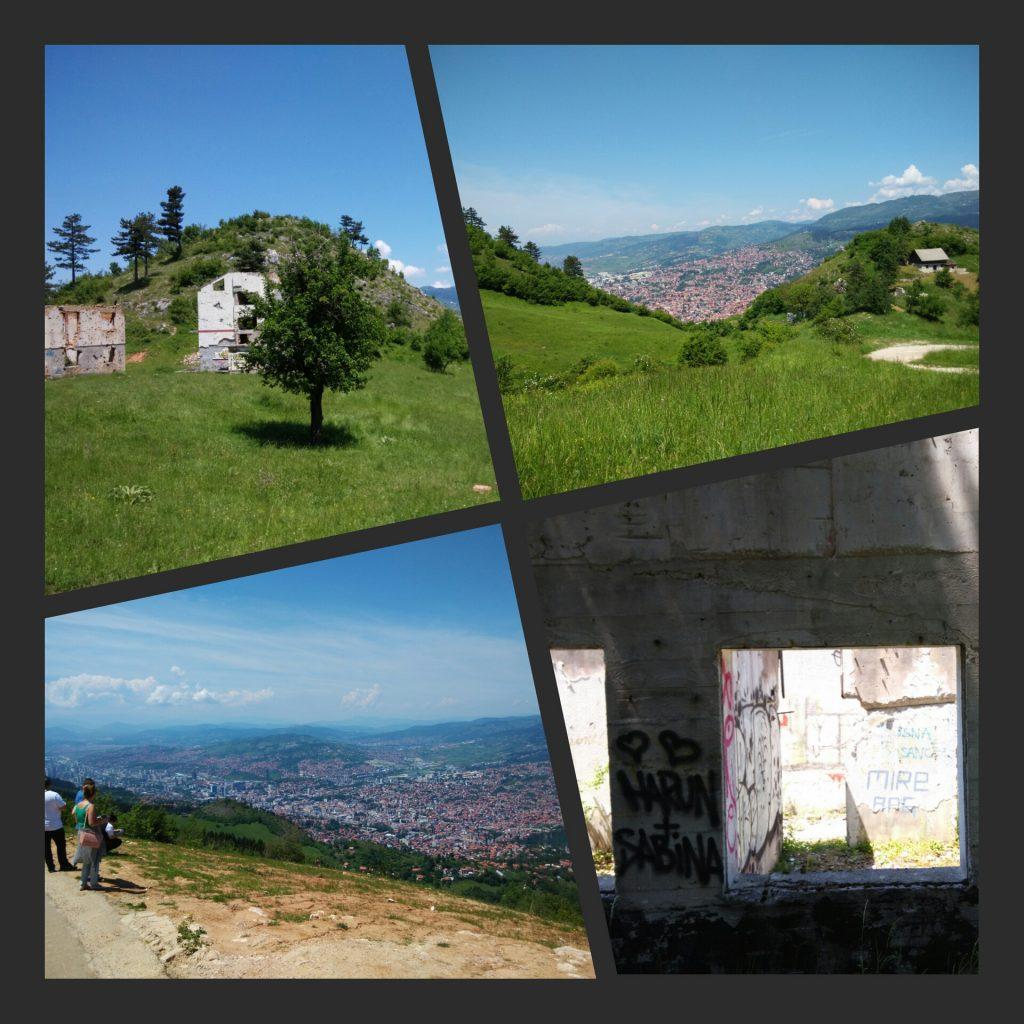 Sarajevo dal Trebevic e dalle colline sottostanti