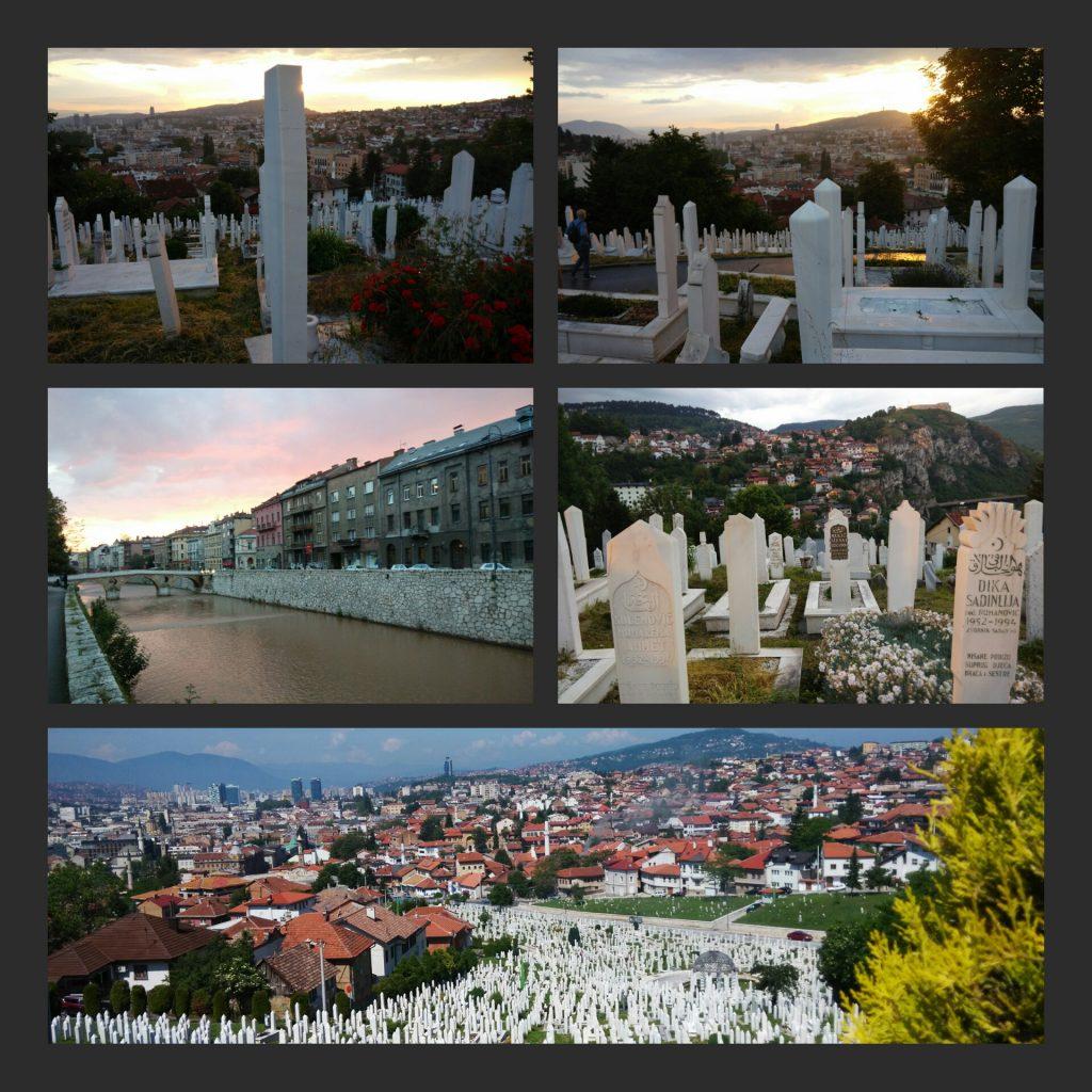 Alifakovac Groblje e la Miliacka verso il Ponte Latino