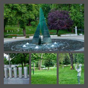 Veliki Park a Sarajevo con il monumento per i bambini morti durante l'assedio