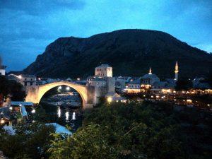 Stari Most by night