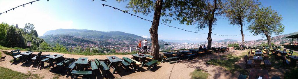 Panorama di Sarajevo dalla Fortezza Gialla (Žuta tabija)
