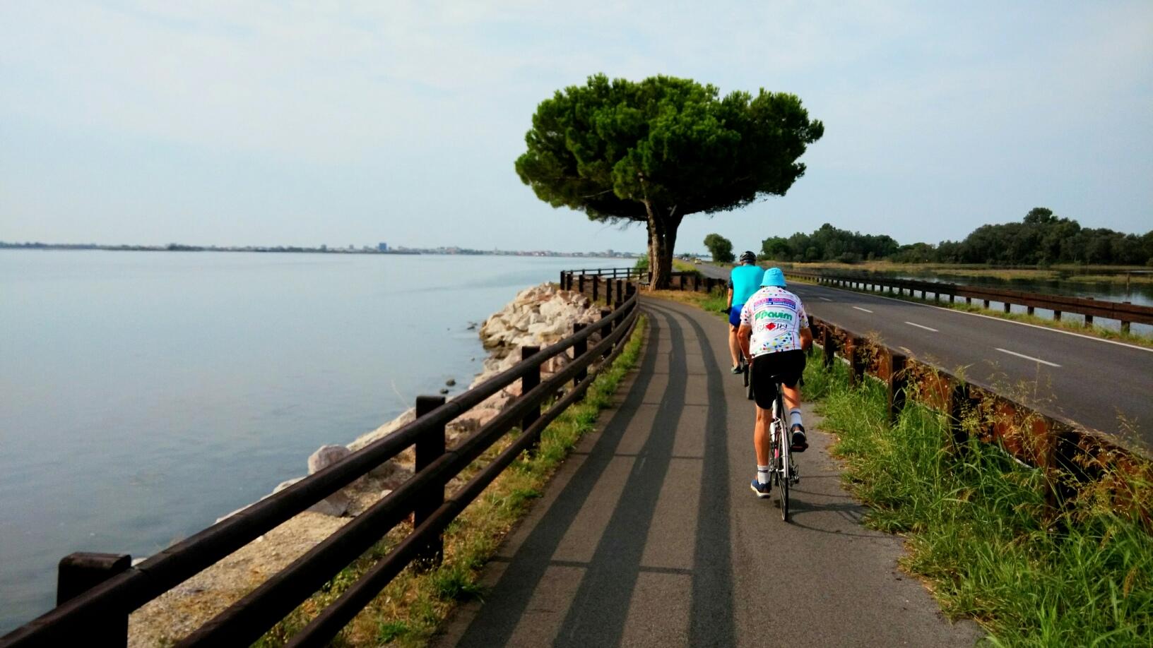 Lungo la strada che da Belvedere di Aquileia attraversa la Laguna di Grado
