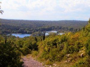 Il lago di Doberdò scendendo dal Carso Sloveno