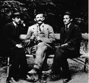 Una foto di tre dei cospiratori a Belgrado agli inizi del 1914: Grabez, Djuro