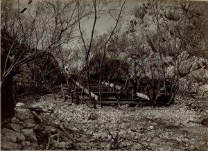 carrello elevatore in costruzione sul Monte Sabotino