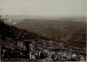 Panorama dal Sabotino verso il Podgora e il Collio