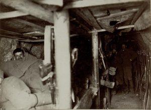La caverna della Compagnia di Riserva sul Monte Sabotino