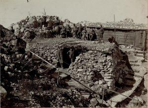 Postazioni di soldati austroungarici sulla cresta del Sabotino