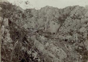 accampamenti di soldati austroungarici sul monte sabotino
