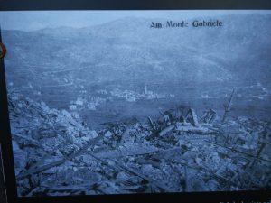 Grgar dal Monte San Gabriele durante la prima guerra mondiale