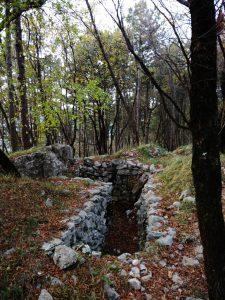 Trincea sul Veliki Hrib - Monte San Gabriele