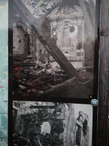 La chiesa di Santa Caterina bombardata durante il primo conflitto