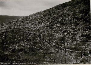 trincee italiane sul San Gabriele 1917 2