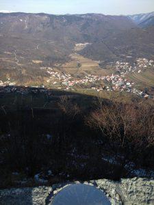 Rosa dei Venti dal Piazzale di San Francesco a Monte Santo sopra Grgar