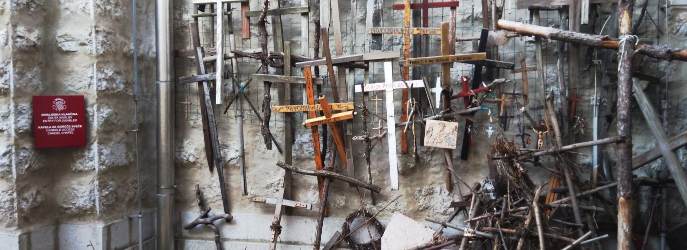 La Parete delle Croci a Monte Santo