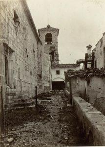 Esterno del complesso del Monte Santo nel giugno 1917