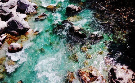 Le acque color smeraldo dell'Isonzo