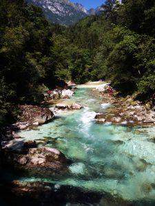 River Soča fiume smeraldo