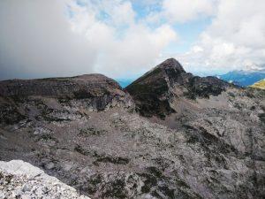 Batognica (Monte Rosso) e Krn (Monte Nero) dal Nido del Condor