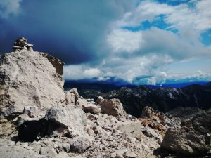 In vetta al Vrh na Peski (Nido del Condor)