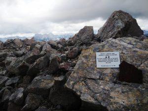 Ammassi di rocce esplose sopra la mina da 4100 di nitroglicerina - 24.9.1917