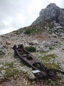 affusto cannone italiano sulla Krnska Skrbina