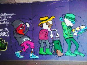 Street Art nel sottopasso di Arco