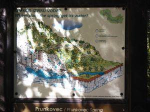 Cartello esplicativo del Rio dei Gamberi