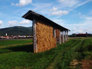 Tipico Kosolec per il fieno vicino a Cerknica
