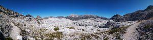 Panoramica dall'Altopiano del Canin