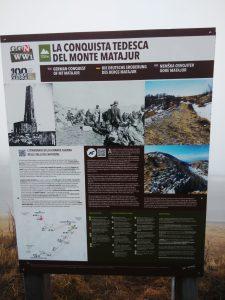 Tabella sentieri Monte Matajur
