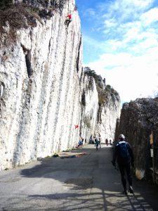 Pareti di roccia sulla Napoleonica