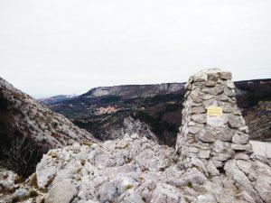 Il cippo Comici in Val Rosandra