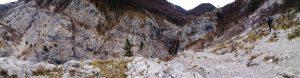 Panoramica della Val Rosandra con la Cascata