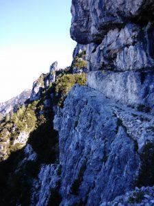 cengia della Madonnina sentiero 428 Val Alba