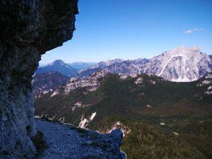il Sernio, la Grauzaria dalla cengia della Madonnina Val Alba
