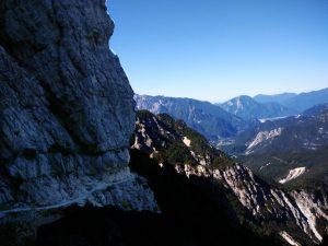 la Valle del Fella dalla cengia della Madonnina Val Alba